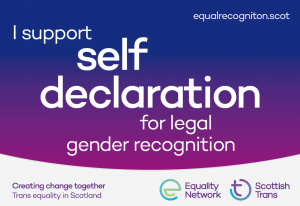 Support self-declaration for legal gender recognition