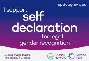 Support self-declaration for legal gender recognition