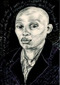 Portrait of Victor Mukasa from Uganda
