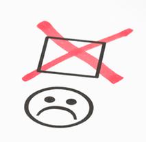 Unhappy emoji face